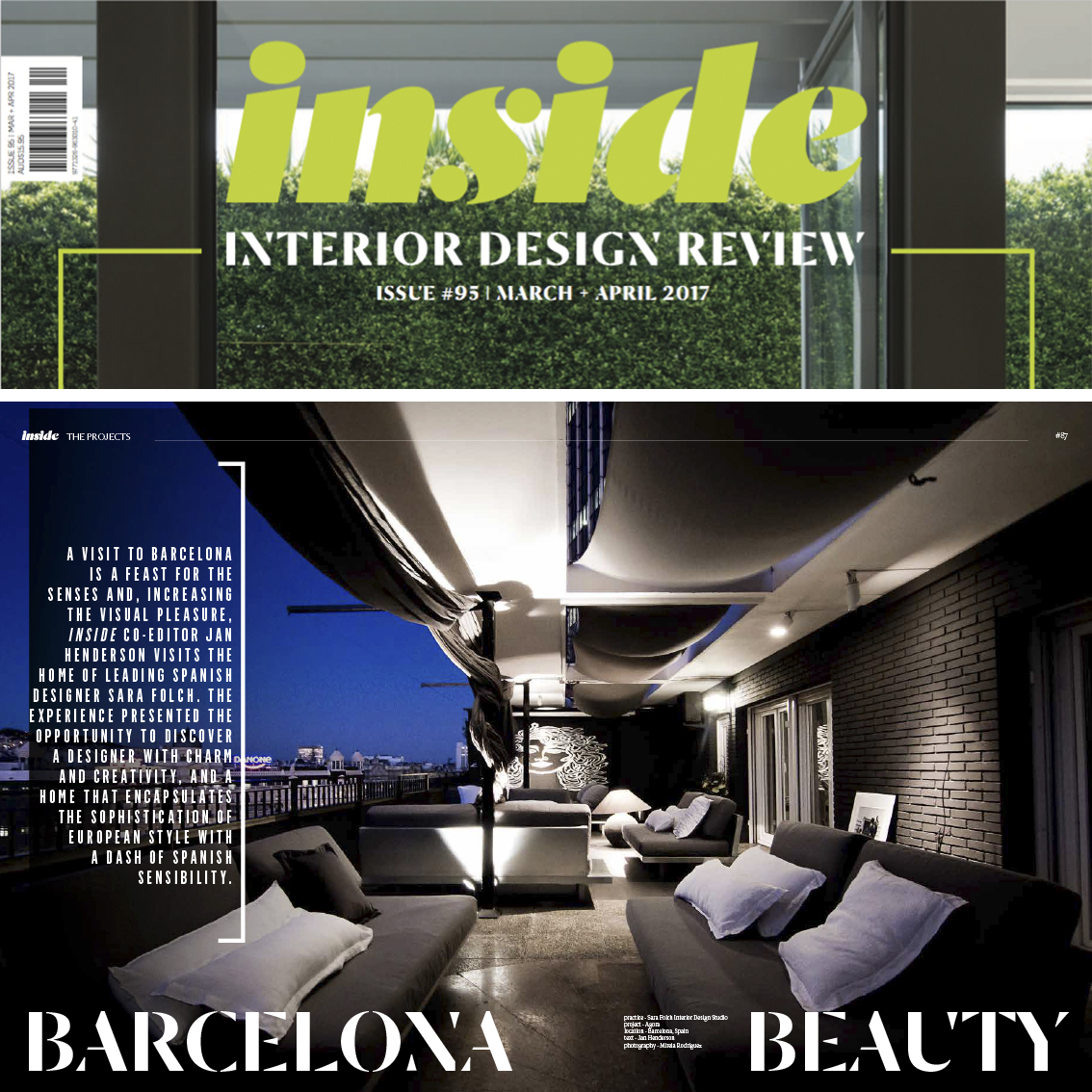 We receive the visit of Inside Interior Design Review