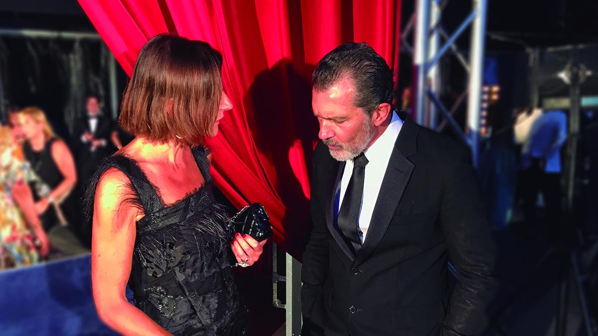 Sara Folch entrevista a Antonio Banderas en Starlite Marbella 2018