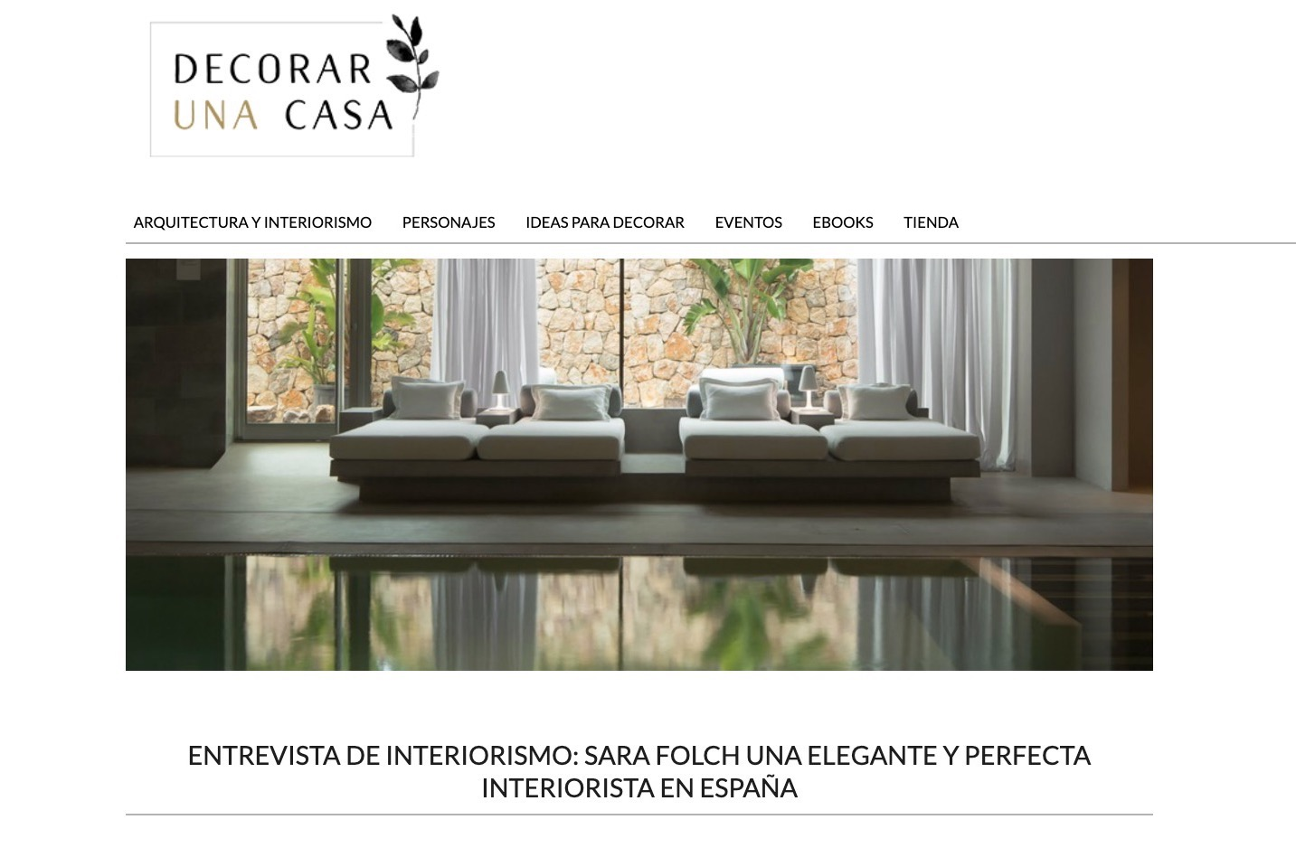 Decorar una casa interviews Sara Folch Interior Design